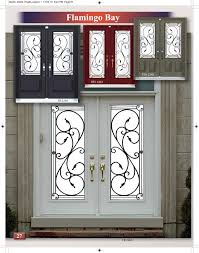 flamingo bay available in 3 4 full size wrought iron glass door inserts