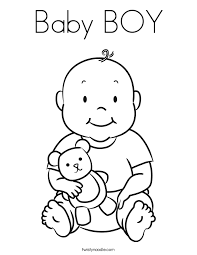 In this free color by number worksheet, kids can use the numbered color key to color cute pictures of animals dressed in. Baby Boy Coloring Page Baby Coloring Pages Coloring Pages For Boys Baby Colors