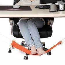 com smagreho portable adjule mini office foot rest stand desk foot hammock orange garden outdoor