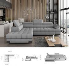 bmf selva l modern corner sofa bed