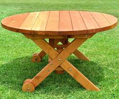 round wooden picnic table medium size of lovely wheels no round wood picnic table also round