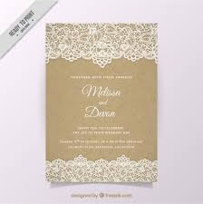 invitation t vintage wedding invitation with lace vector free download