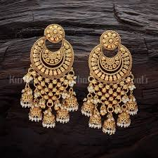 Designer Earrings Online Shopping India Antique Earring 104813 Indian Jewelry Earrings Jewelry