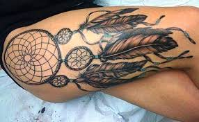 Dream Catcher Tattoo On Thigh Beautiful Dreamcatcher Tattoo Ideas Girl Dreamcatcher Thigh Tattoo 31