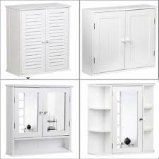 white bathroom wall cabinets. bathroom wall cabinet mirror single \u0026 2 door storage mounted cupboard wood white cabinets