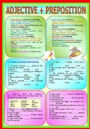 Adjective Preposition Esl Worksheet By Paula_esl