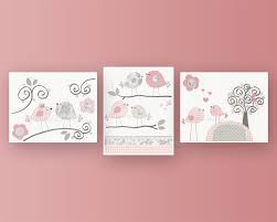 pink and grey birds baby girl nursery wall art decal with name wall sticker flower pattern on baby girl room decor wall art with wall art lastest images baby girl nursery wall art wall art for