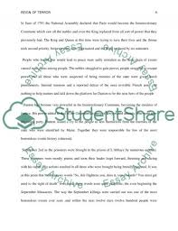the french revolution impact of the reign of terror essay  reign of terror essay example text preview