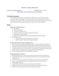 Scrum Master Resume Example Cool Scrum Master Resume Example Free Career Template Sample 2
