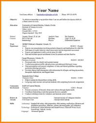 3 Main Types Resumes Different Resume Format Formats Example