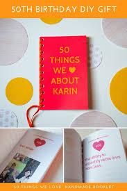50th birthday handmade book gift ideas