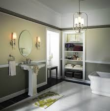 bathroom remarkable bathroom lighting ideas. remarkable bathroom lighting idea with lantern chandelier and classic wall sconces beside oval mirror ideas