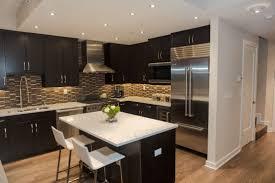 kitchens with dark cabinets and dark granite white kitchen black