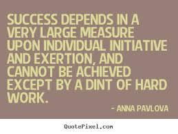 Success sayings - Success depends in a very large measure.. via Relatably.com