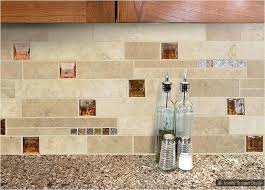 stone and glass backsplash light dark and medium color tiles mixed with brown glass insert unique stone and glass backsplash