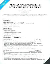 Mechanical Engineering Sample Resume