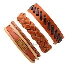 Dropshipping for <b>3 Pcs Vintage Braided</b> Leather Bracelet Male to ...