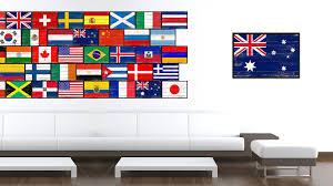 australia country national flag vintage canvas print with picture frame home decor wall art collection gift on home decor wall art au with australia country national flag home decor gift ideas wall bedroom