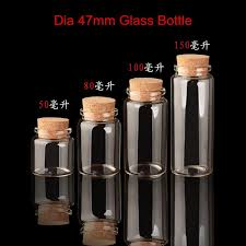 32 x large volume clear glass bottle with cork lid container borosilicate diameter of 47mm empty by jiguan dhgate com