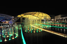 led lighting designs. Magnificent Night Outdoor Views Wth Sparkling Green And Yellow LED Light Led Lighting Designs L