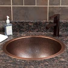 18 baina extra deep round hammered copper sink