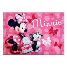 Kids Room Disney Minnie Mouse Pink Color Rug Designs For Girls