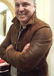 DIstressed sheepskin leather jacket, Billy Reid Fall 2013 (modeled by Charles Clark of Ibiza) - Billy-Reid-2