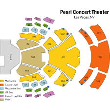 The Palms Pearl Seating Chart Pearl Theater Las Vegas
