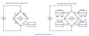 quarter and full bridge strain gauge circuit