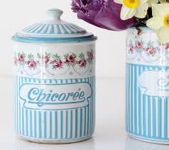 French Canisters Kitchen Sold French Enamel Kitchen Canisters My French Finds
