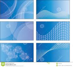 business card template designs 6 blue business card template designs stock vector illustration of
