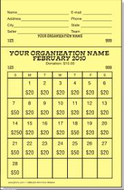 Calendar Raffle Template Raffle Calendars A Super Way To Raise Money Jforms Com
