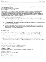 resume sample operations executive page 3 resume indeed