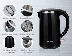 stainless steel electric kettle no plastic touches the water