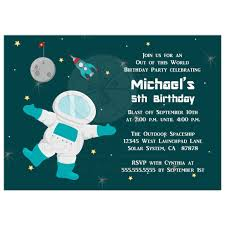 Space Party Invitation Birthday Party Invitation Boys Outer Space Astronaut