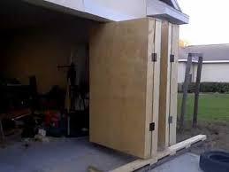 folding garage doorsGarage Accordian Door  YouTube