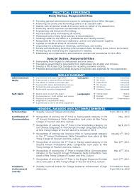 Resume Sample For Fresh Graduate Final Vision But Cv Of Office