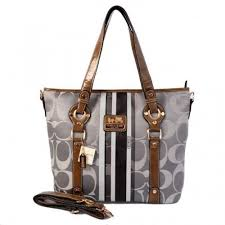 Coach Logo In Signature Medium Grey Totes BET