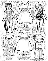 Small Picture girl dog and cat paper doll coloring page Coloring pages