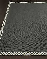 courtly check black sisal rug 2 x