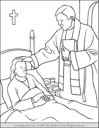 sacrament coloring pages. Delighful Sacrament Sacrament Of The Anointing Sick Coloring Page Inside Pages E