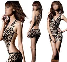 SGirl <b>Women's Sexy Hot Leopard</b> Print Club Wear Party Dress One ...