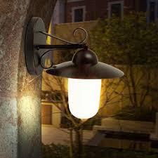 Led 9 Watt Außen Lampe Landhaus Stil Wand Beleuchtung Energie Spar