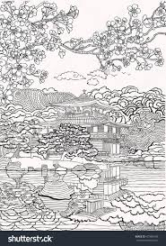Japan Coloring Pages Shutterstock 427885498 Adult Coloring Pages