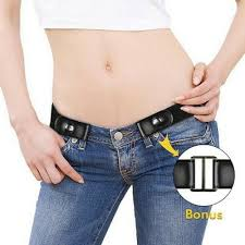 <b>Buckle</b>-<b>free Elastic</b> Womens Comfortable Invisible Belt for Jeans No ...
