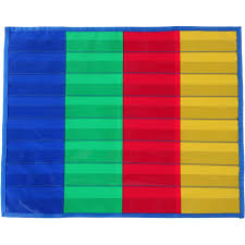 4 Column Pocket Chart 4 Column Desktop Pocket Chart Walmart Com