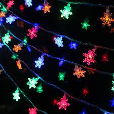 outdoor xmas lighting. aliexpresscom buy 2 colors acrylic snowflake led light decoration for home waterproof string lights outdoor xmas lighting strings wedding decor from o