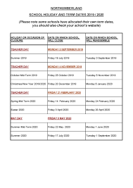 Term Dates :: The Duchess's Community High School