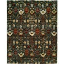 heirloom slate green 8 ft x 10 ft area rug