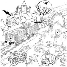 Small Picture halloween coloring pages adults printables halloween coloring